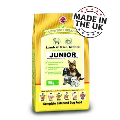 James Wellbeloved Junior - Lamb & Rice - Economy Pack: 2 x 15kg