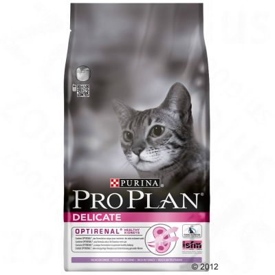 Purina Pro Plan Delicate Cat Optirenal - Rich in Turkey - Economy Pack: 2 x 3kg