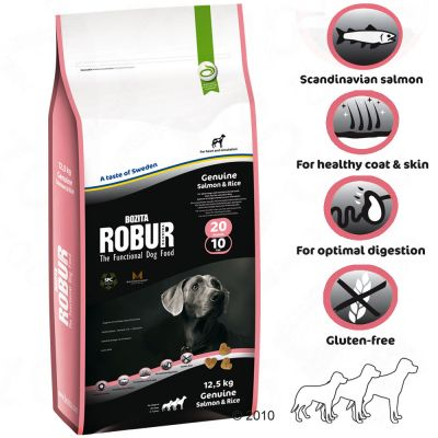 Bozita Robur Genuine Salmon & Rice 20/10 - 12.5 kg