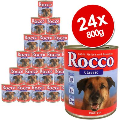 Rocco Classic Saver Pack 24 x 800g - Pure Beef