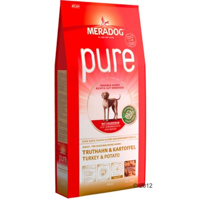 Mera Dog pure Turkey & Potato Grain-Free - Economy Pack: 2 x 12.5kg