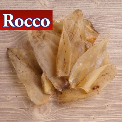 Rocco Natural Dried Cows' Ear Dog Chews - 100 pieces