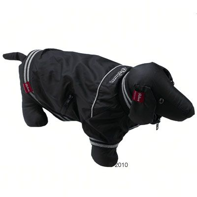 Rodney Dog Jacket Black - Size L: 28 cm back length