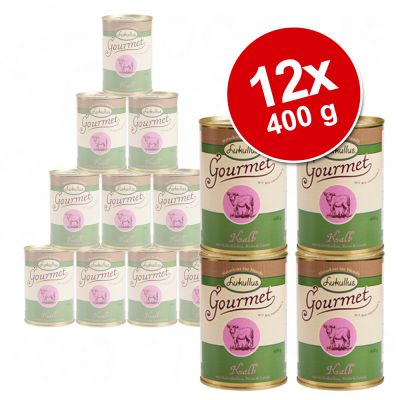 12 x 400 g Lukullus Gourmet - Value Pack - Chicken with Spelt, Parsnip & Courgette