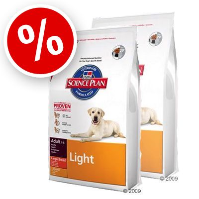 Hill's Canine Adult Large Breed Light Chicken - Economy Pack: 2 x 12 kg