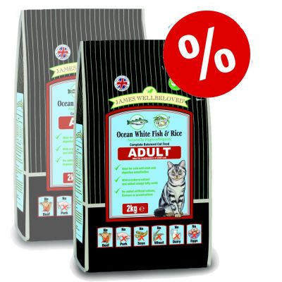 James Wellbeloved Adult Fish & Rice Cat Food - Economy Pack: 2 x 10 kg