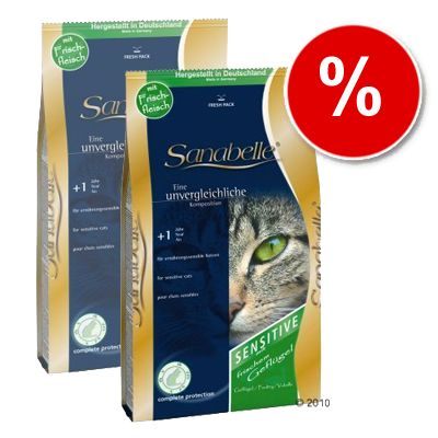 Sanabelle Sensitive with Poultry - Economy Pack: 2 x 10 kg