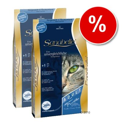 Sanabelle Adult with Trout - Economy Pack: 2 x 10 kg