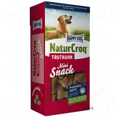 Happy Dog Natur Croq Snack Mini Turkey - Saver Pack: 4 x 350g