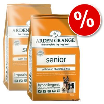 Arden Grange Dog Senior Chicken & Rice - Economy Pack: 2 x 15 kg