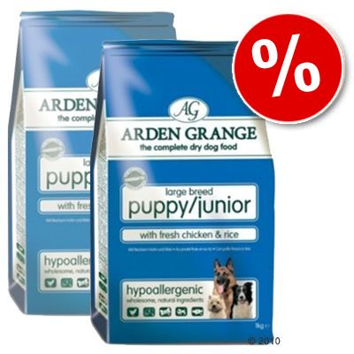 Arden Grange Dog Puppy/Junior Large Breed Chicken & Rice - Economy Pack: 2 x 15 kg