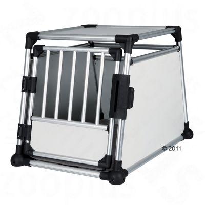 Cage de transport pour chien en aluminium Trixie- L 63