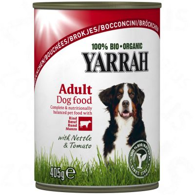 Yarrah Beef & Chicken Chunks with Tomato & Nettle - Saver Pack: 24 x 405g