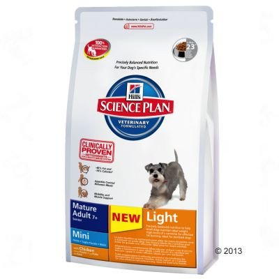Hill's Science Plan Mature 7+ Light Mini - Chicken - Economy Pack: 3 x 2.5kg