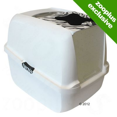 Catit White Tiger Litter Box - White