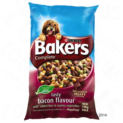 Bakers Complete Tasty Bacon with Liver & Country Vegetables - 14kg