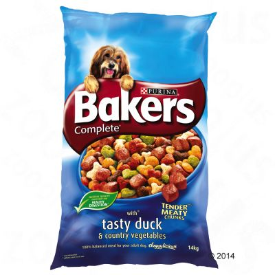 Bakers Complete Tasty Duck & Country Vegetables - Economy Pack: 2 x 14kg