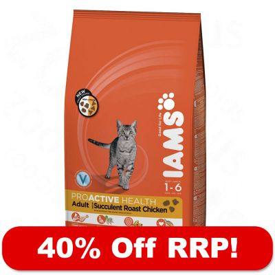 Large Bags Iams Dry Cat Food - 40% Off RRP!* - Adult Multi-Cat (15kg)
