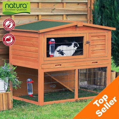 Trixie Natura Giant Hutch & Run - 123 x 76 x 96 cm (Medium)