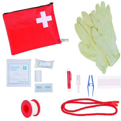 Trixie Pet First-Aid Kit - 12 piece - Red