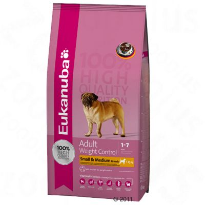 Eukanuba Adult Small & Medium Breeds Weight Control - 15 kg