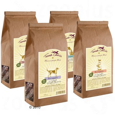Biscuits pour chien Terra Canis Struppis- 500 g, canard, pomme & banane