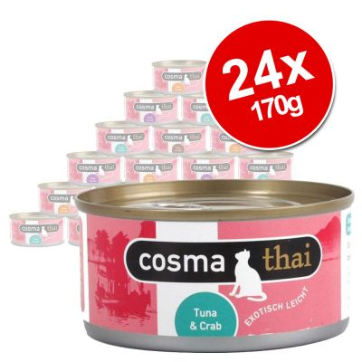 Cosma Thai in Jelly Saver Pack 24 x 170g - Chicken with Tuna