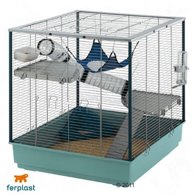 Ferplast Ferret Cage Furet XL - Gray Bars, Gray Basin