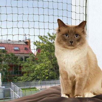 Trixie Biteproof Cat Net - olive - 8 x 3m