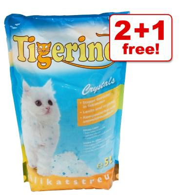 5 Litre Tigerino Crystals Silicate Litter 2 + 1 free! - Tigerino Crystals Flower Power Litter (3 x 5l)