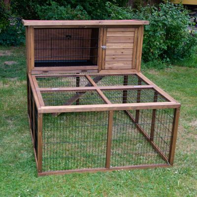 Rabbit Hutch Forest With Run - 122 x 52 x 110 cm (L x D x H) (2 parcels)