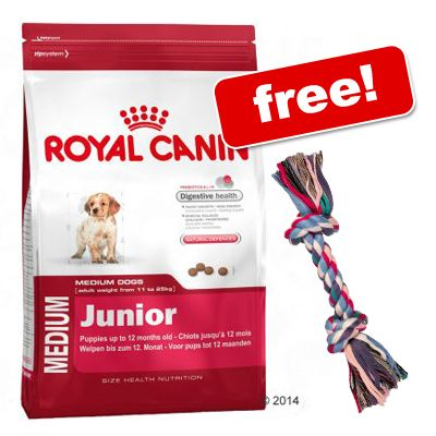 Royal Canin Size Junior + Trixie Playing Rope Free!* - Medium Junior (15kg)