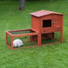 Outback Little Home Hutch with Run - 155 x 60 x 90 cm (L x W x H)