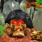 Pirate Skull Decoration - Dimensions: approx. 14 x 14 x 10 cm (L x W x H)