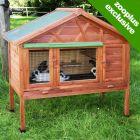 Kerbl Heat-insulating Small Pet Hutch 4-Seasons - Size: 130 x 62.5 x 110 cm