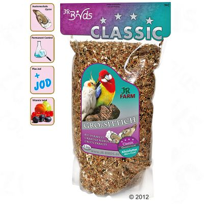 JR Birds Classic Large Parakeet/Cockatiel Feed - 4 kg