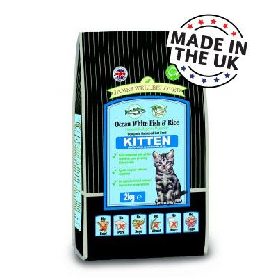 James Wellbeloved Kitten Fish & Rice - Economy Pack: 3 x 2 kg