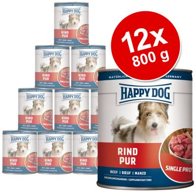 Happy Dog Single Protein 12 x 800 g - pure beef