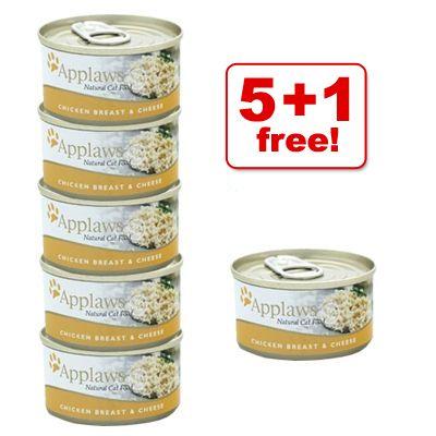 70 g Applaws Cat Food, 5 + 1 Free! - 6 x 70 g Tuna Fillet