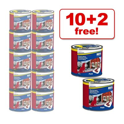635 g Bozita Wet Dog Food, 10 + 2 Free! - 12 x 635 g Beef & Rice