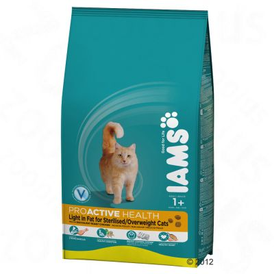 Iams Proactive Health Adult Cat Light in Fat - Roast Chicken - Economy Pack: 2 x 10kg
