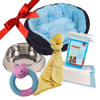 Puppy Gift Set: Baby Boy Blue - 5 piece set