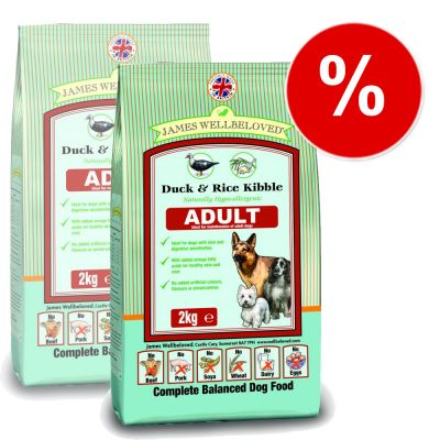 James Wellbeloved Adult Complete Duck & Rice - Economy Pack: 2 x 15 kg