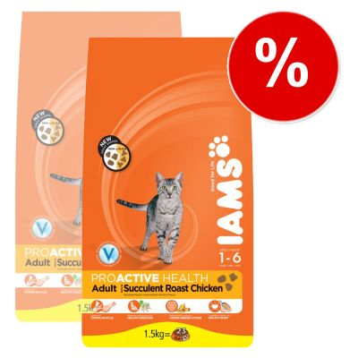 Large Iams Double Packs - Great Savings! - Adult Hairball (2 x 10 kg)