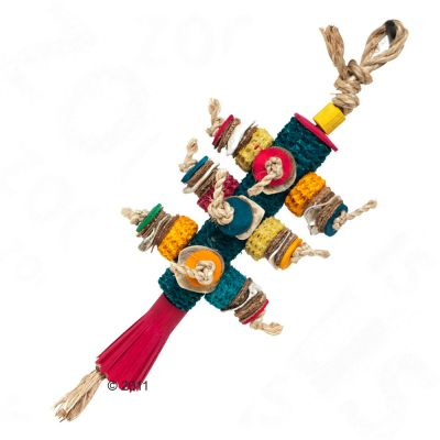 Corncob Bird Toy - 34 x 12 x 6.5 cm (L x W x D)