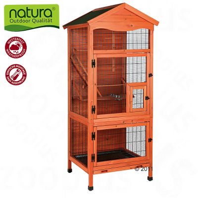 Trixie Natura Outdoor Aviary - red brown: 75 x 180 x 78 cm (L x W x H)