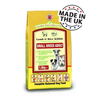 James Wellbeloved Adult Small Breed - Lamb & Rice - 7.5kg