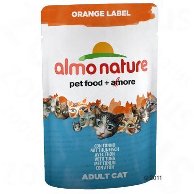 Sachets fraîcheur Almo Nature Orange Label 6 x 70 g- thon