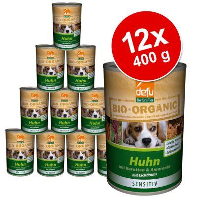 Saver Pack Defu Organic 50% Sensitive 12 x 400 g - Chicken with Carrots & Amaranth  (grain & gluten free)