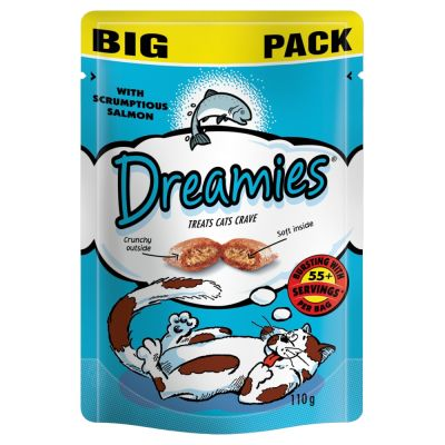 Big Pack Dreamies Cat Treats 110g - with Salmon